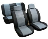 Car Seat Cover Grey and Black