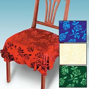 Damask Dining Chair Seat Covers