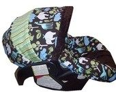 Stork boy car seat cover