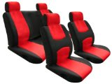 Universal car seat cover in red