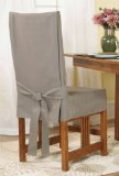 Cotton duck short dining chair covers