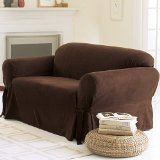 Soft Suede Loveseat Seat Cover