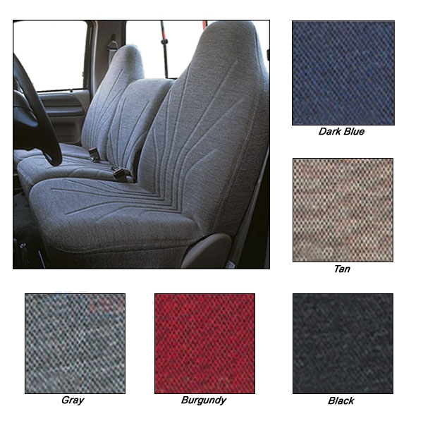 Wonderful woven tweed seat covers