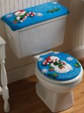 Snowman Toilet Seat Cover and Tank Cover Set